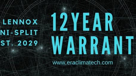 Warranty:  12 Years?