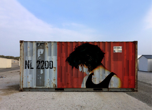 Container met Tanja close-up 110x80 72 d