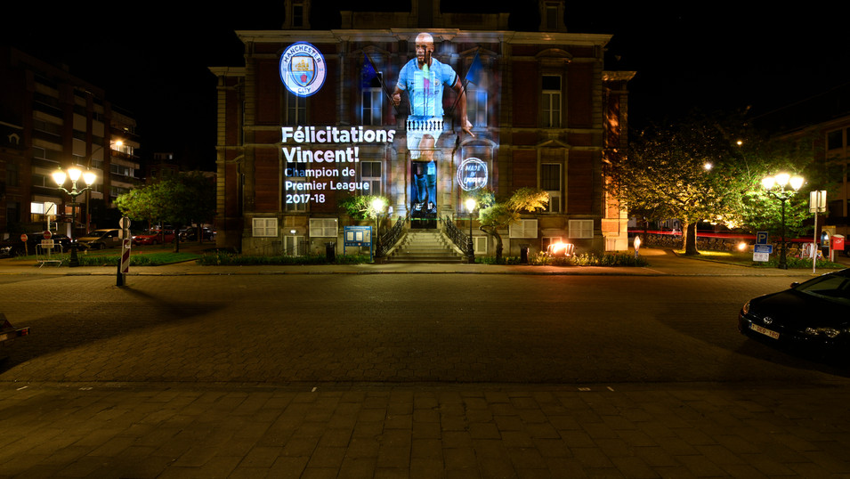 Vincent Kompany - Town Hall - Projection