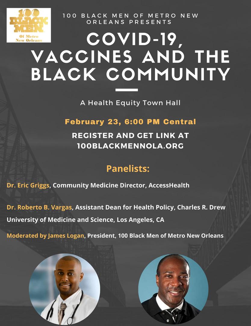 2S 100 Vaccine Town Hall Flyer MailChimp