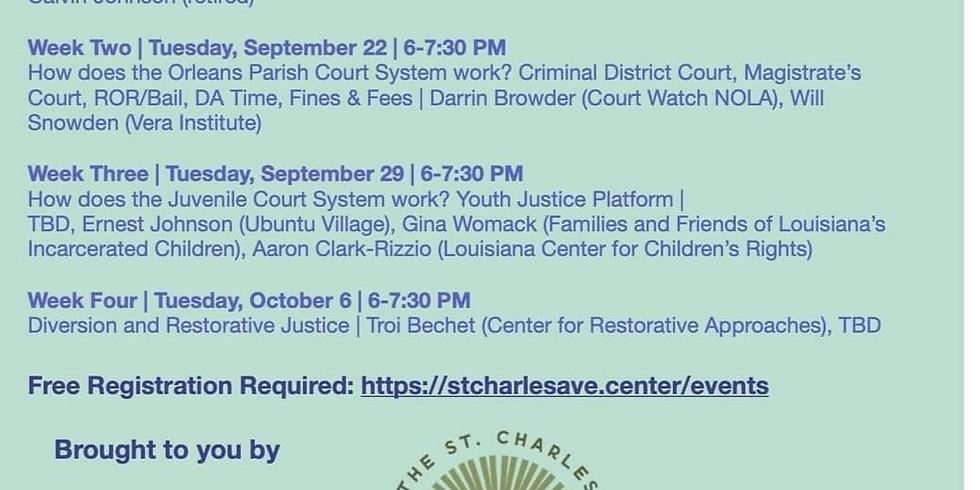 Orleans Parish Court System Seminar Series