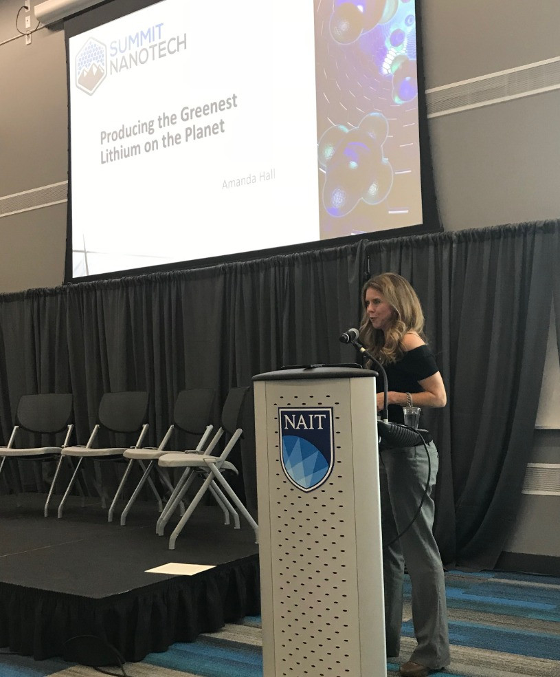 CEO Amanda Hall presented at the Alberta Clean Tech Industry Alliance Conference