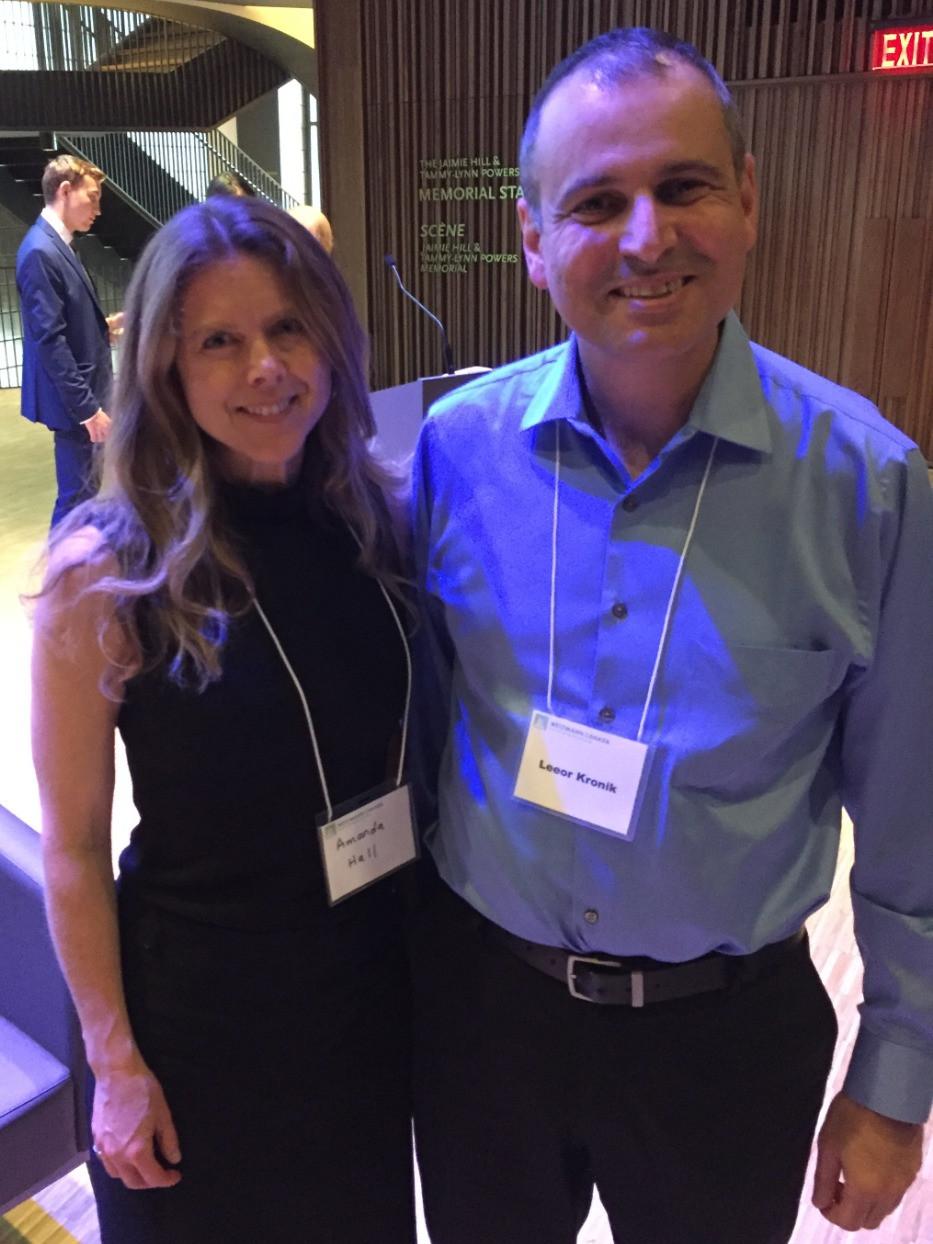 CEO Amanda Hall with Dr. Leeor Kronik