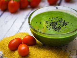 Vegan spinach soup