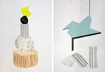 Patricia Sandonis Drawings, Kunst, Zeichnung, Villa Massimo Rome, Fortuna Populi Columns