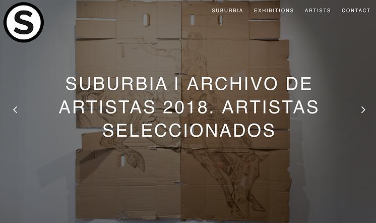 suburbia archivo de artistas 2018, contemporary ar in granada