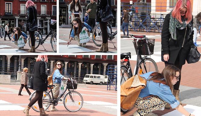 Patricia Sandonis participatory art in public realm, Salzamt Linz, Art in Linz, arte participativo en espacio publico, Valladolid, installation, Creart.org, art and economics, Drawing, Zeichnung, Collage