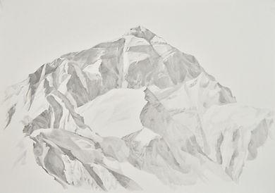 Patricia Sandonis art, Drawing, Mount Everest art, dibujo lápiz Valladolid, arte en Valladolid