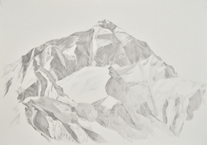 Patricia Sandonis art, Kunst Berlin, arte, Zeichnung, Drawing, dibujo, Everest, Salzamt