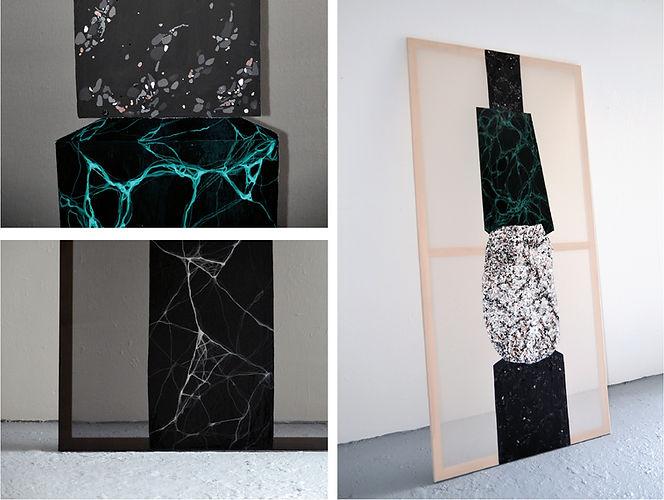 Patricia Sandonis Painting, Kunst, Malerei, Lack und acryl, Villa Massimo Rome, Fortuna Populi Columns