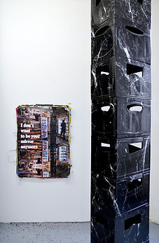 Art and monuments Berlin Patricia Sandonis Kunst Ready Made poster marble