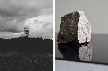 Patricia Sandonis art, Kunst Berlin, Teufelsberg, Black and white photography, Art installation