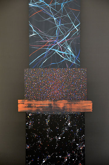 Patricia Sandonis Painting, Kunst, Malerei, Lack und acryl, Villa Massimo Rome, Fortuna Populi Columns, Galerie weisser Elefant Berlin