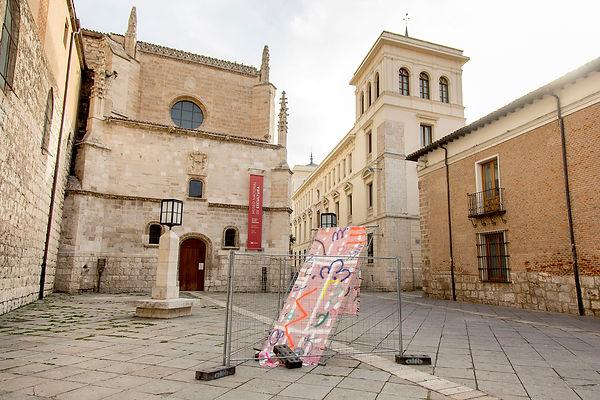 Patricia Sandonis art in public space, Creart, Arte en Valladolid, contemporary painting, contemporary artist spain, Berlin artist, Pintura contemporánea, art installation, Museo escultura Valladolid