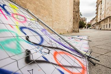 Patricia Sandonis art in public space, Creart, Arte en Valladolid, contemporary painting, contemporary artist spain, Berlin artist, Pintura contemporánea, pintura de gran formato, art installation Valladolid
