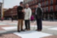 Patricia Sandonis participatory art in public realm, Salzamt Linz, Art in Linz, arte participativo en espacio publico, Valladolid, installation, Creart.org, art and economics