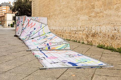 Patricia Sandonis art in public space, Creart, Arte en Valladolid, contemporary painting, contemporary artist spain, Berlin artist, Pintura contemporánea, Art Installation