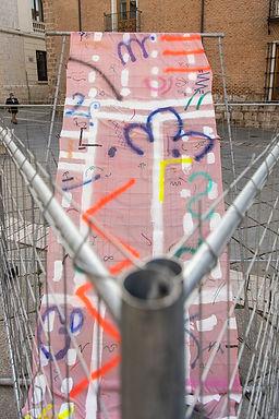 Patricia Sandonis art in public space, Creart, Arte en Valladolid, contemporary painting, contemporary artist spain, Berlin artist, Pintura contemporánea, art installation, Museo Valladolid