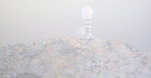 Patricia Sandonis art painting, Kunst Malerei, Teufelsberg Berlin, Landscape painting, Landschaftsmalerei, Künstlerhaus Dortmund