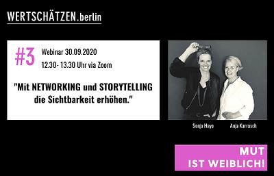 MUT IST WEIBLICH_Networking_Storytelling