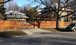 Privacy fence & pergola