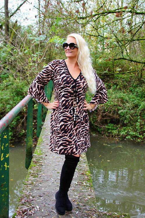 Dress Print Black/Camel