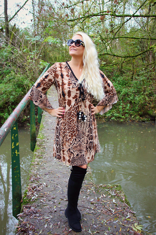Dress Print Brown/Black