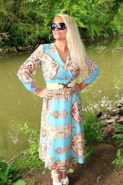 Long Dress Aqua