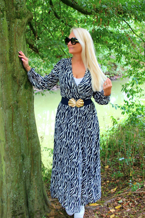 Long Dress Blue wave