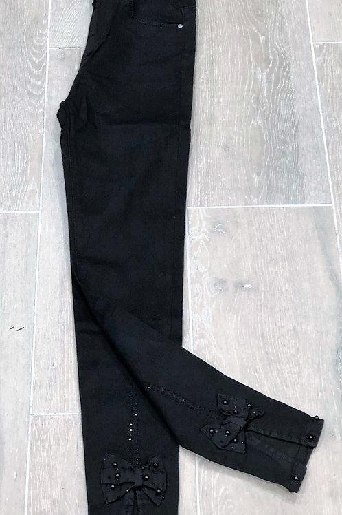 Jeans Zwart Strik