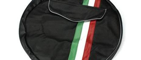 Copri ruota di scorta nero con tricolore Vespe ruote da 10