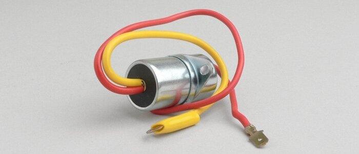 Condensatore con staffa 2 fili Vespa 125 150 GT TS VBB GL SPRINT SUPER