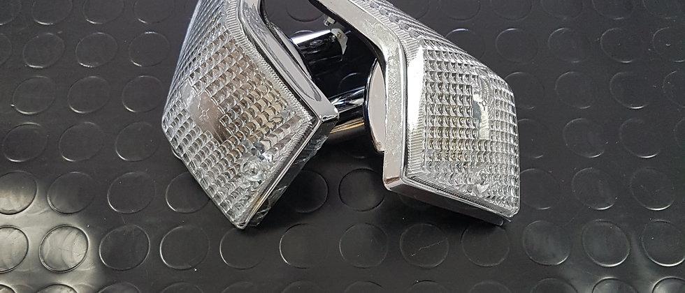 Coppia frecce posteriori bianche Vespa PX 125-150-200