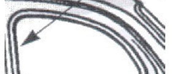 Coppia guarnizioni posteriori laterali Fiat 500 F L R D