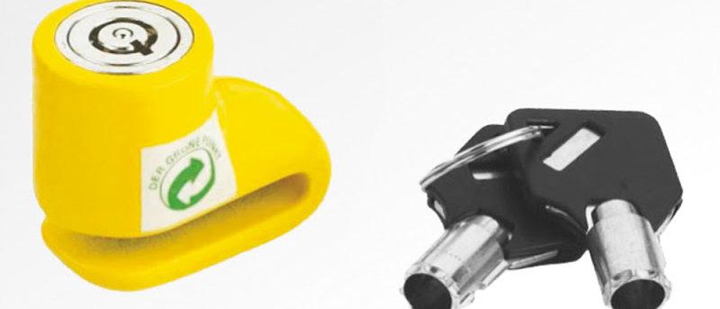 Lucchetto bloccadisco micro perno Ø 5,5mm