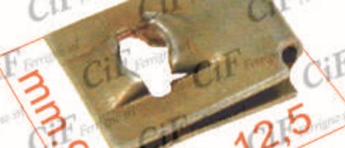 Piastrina per vite autofilettante 9X12,5mm