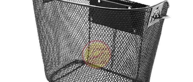 Cestino Anteriore 25,5x26x33cm metal quadro nero