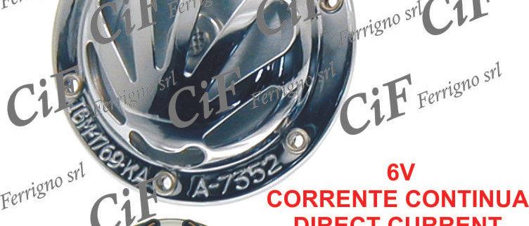 Clacson cromato 6V c.c. Vespa 150-160