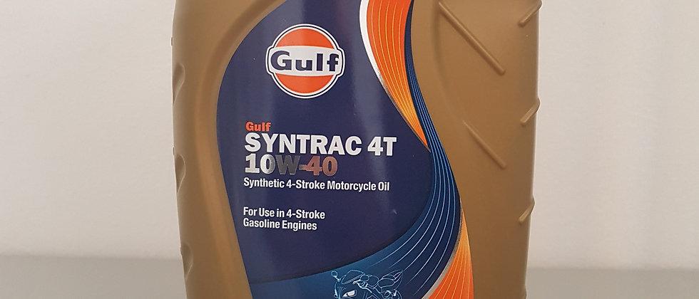Olio Gulf Syntrac 4T 10W40 sintetico