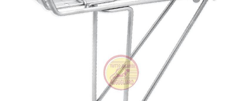 """Portapacchi posteriore bici 26"""" - 28"""" CITY BIKE Silver"""