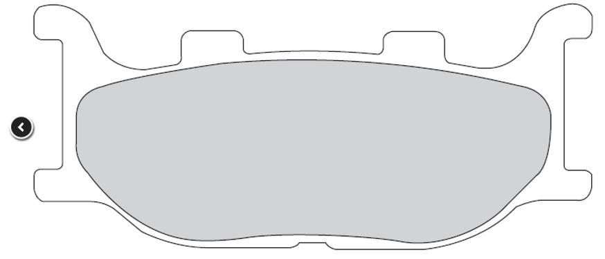 Pastiglie freno Italjet-Yamaha 125-150