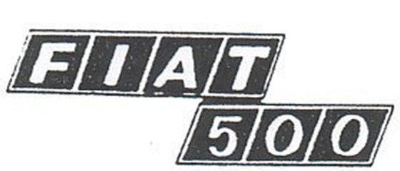 Scritta posteriore in zama Fiat 500