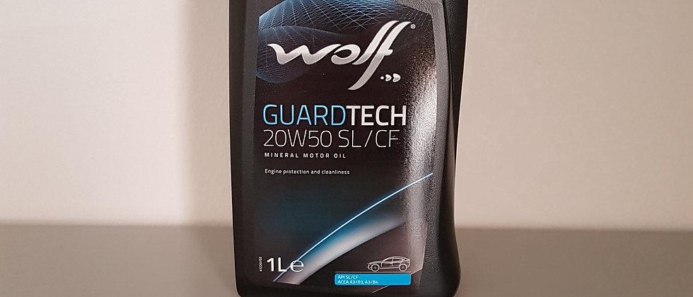 Olio Wolf 20W50 minerale per auto
