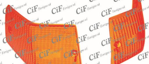 Coppia plastiche frecce posteriori arancio Vespa PX