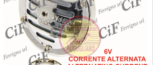 Clacson cromato corrente alternata 6V Vespa 50 - 125 - 150