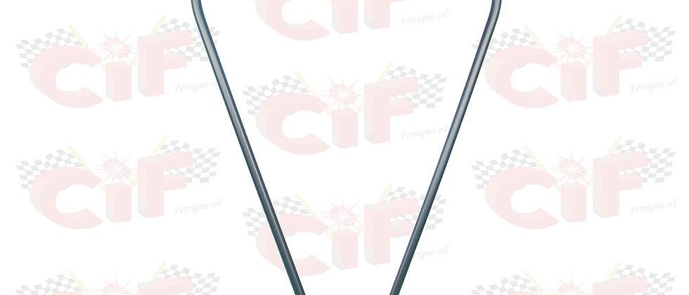 Bordo scudo in plastica nero Vespa PX PE ARCOBALENO 125-150-200