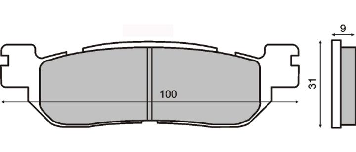 Pastiglie freno RMS MBK/YAMAHA