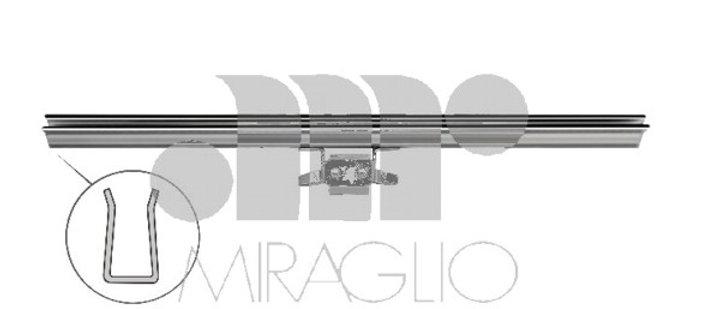 Canalino guida vetro lato destro/sinistro Fiat 127