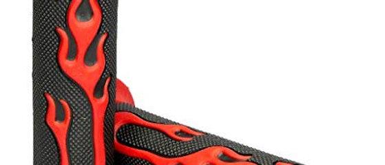 Coppia manopole nere scooter 50 fiamma rossa