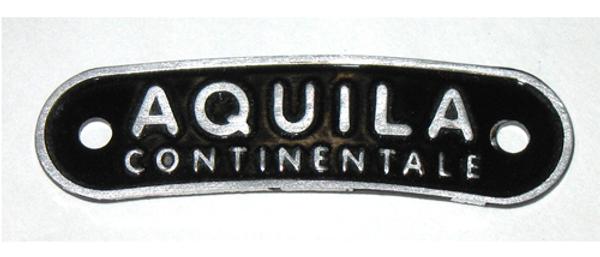 Targhetta Aquila Continentale per selle Vespa